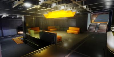 Hi-tech lounge